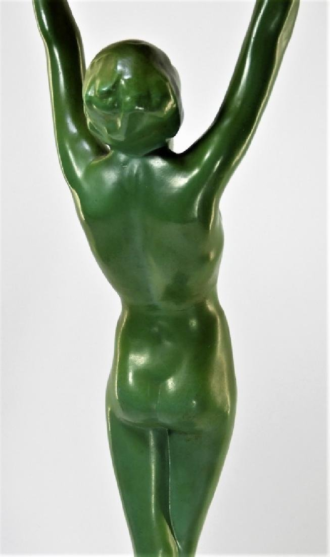 Frankart Art Deco Metal Nude Female Smoking Stand - 4