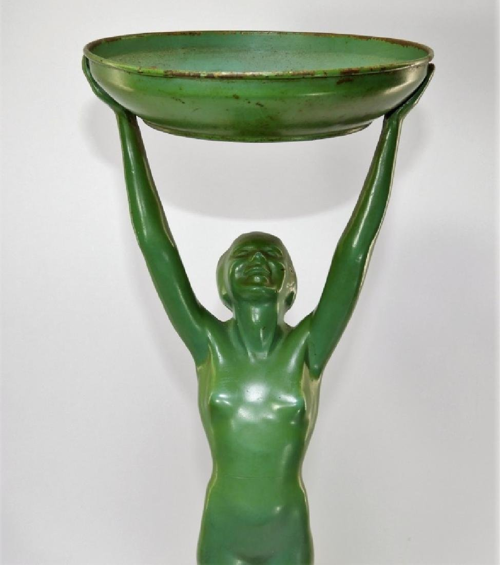 Frankart Art Deco Metal Nude Female Smoking Stand - 8