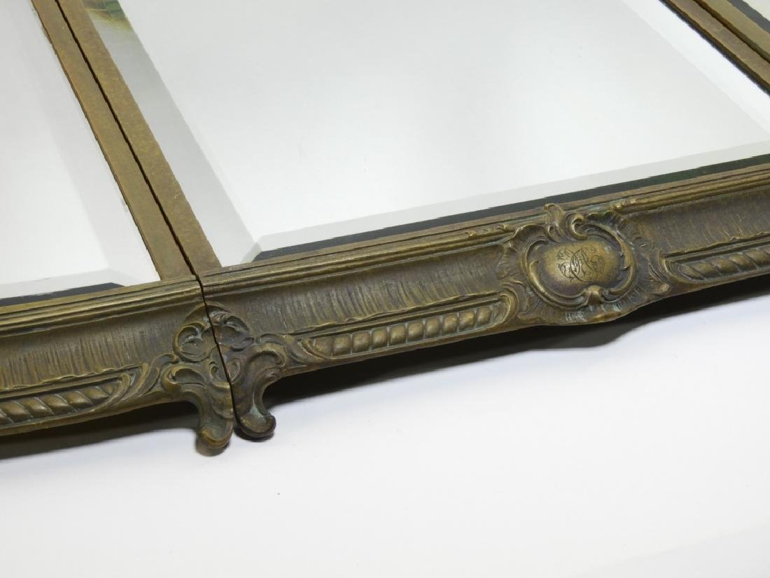 19C. French Bronze Plateau Mirror Dresser Tray - 2
