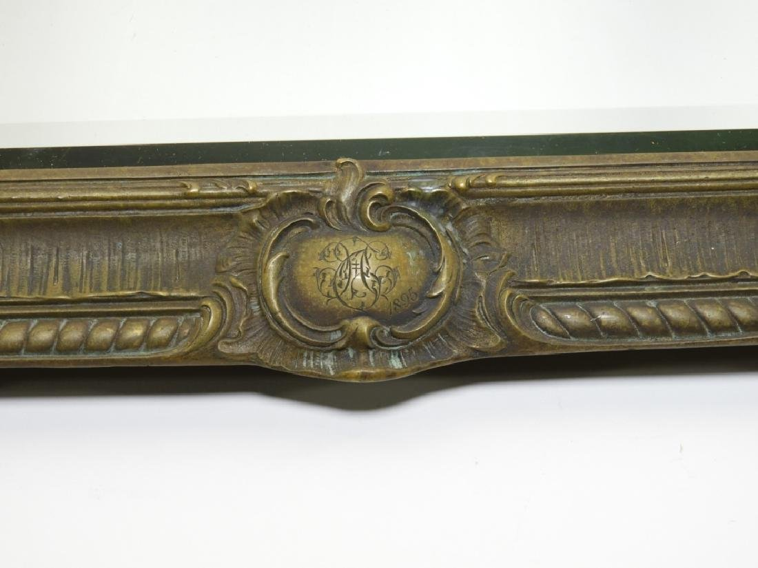 19C. French Bronze Plateau Mirror Dresser Tray - 3