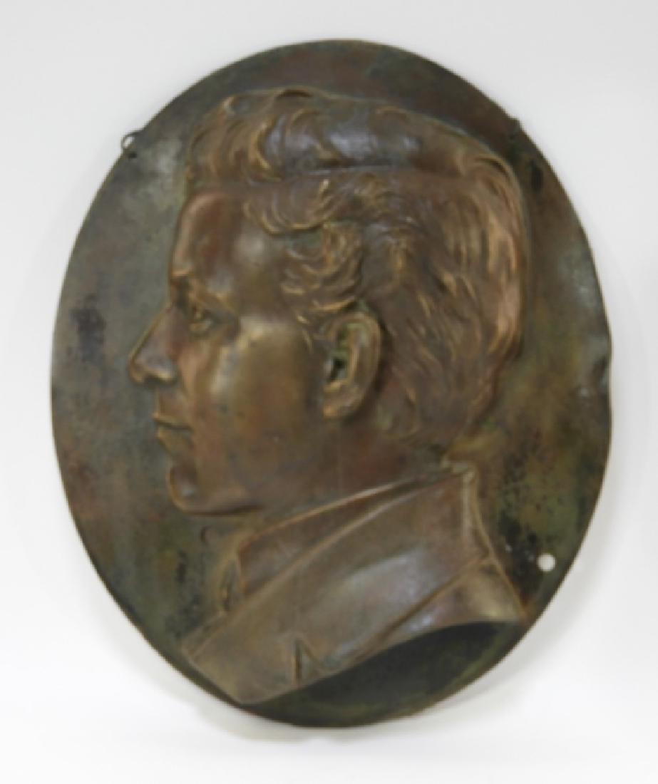 Henry Baerer Bronze Relief Plaque of Aristocrat