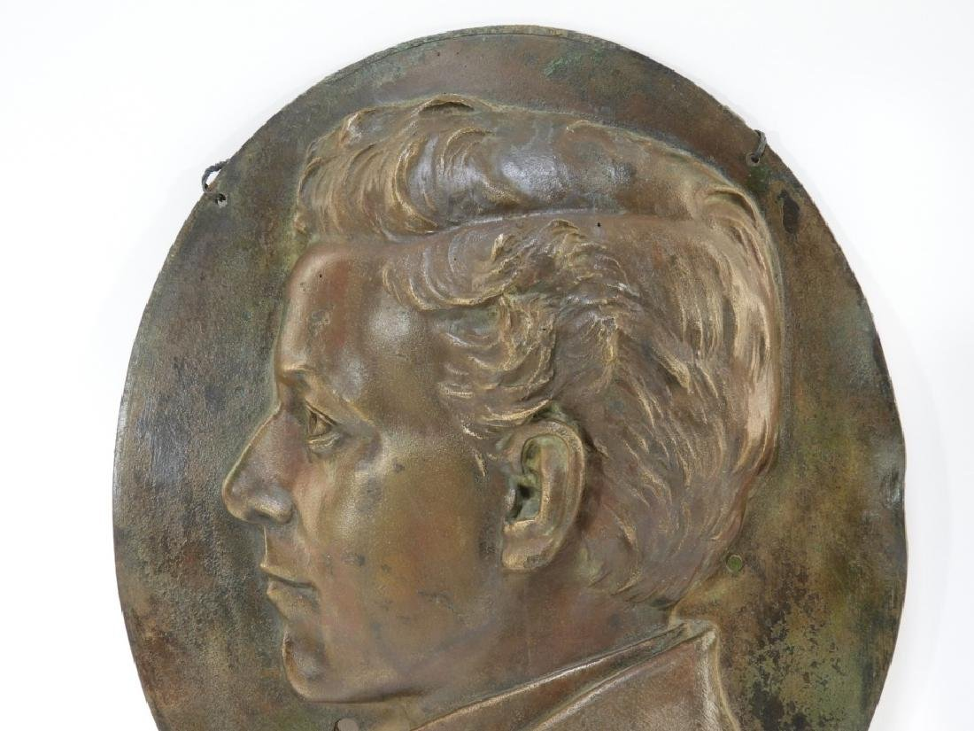 Henry Baerer Bronze Relief Plaque of Aristocrat - 2