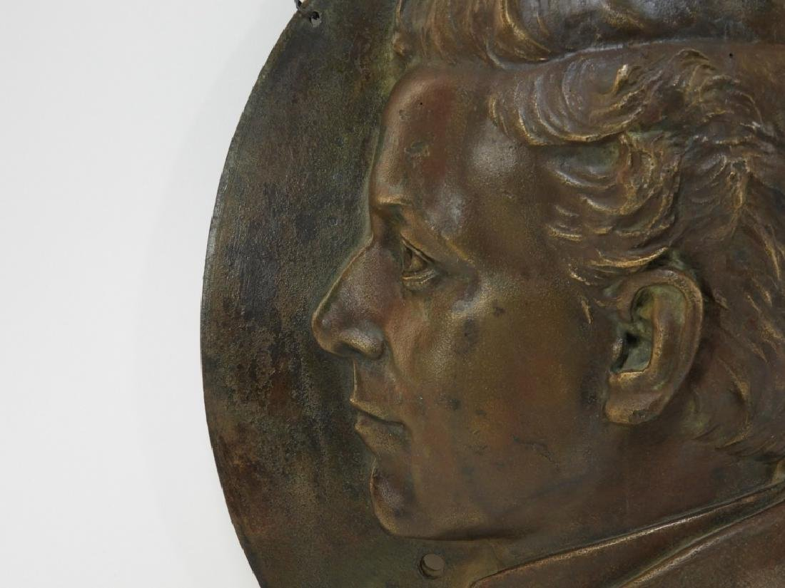 Henry Baerer Bronze Relief Plaque of Aristocrat - 3