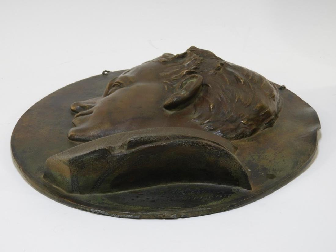 Henry Baerer Bronze Relief Plaque of Aristocrat - 5