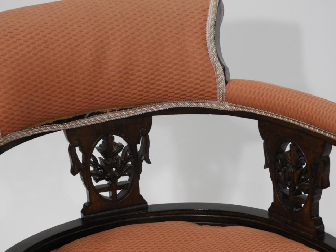 PR Victorian Aesthetic Carved Walnut Side Chairs - 2