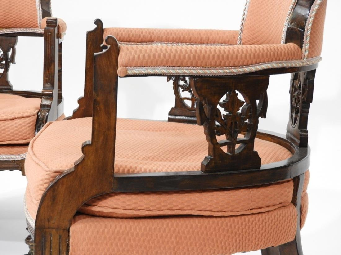 PR Victorian Aesthetic Carved Walnut Side Chairs - 5