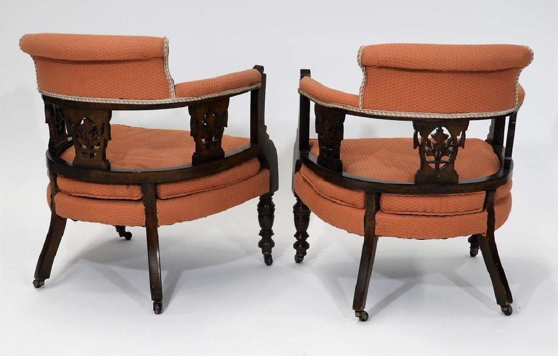 PR Victorian Aesthetic Carved Walnut Side Chairs - 7