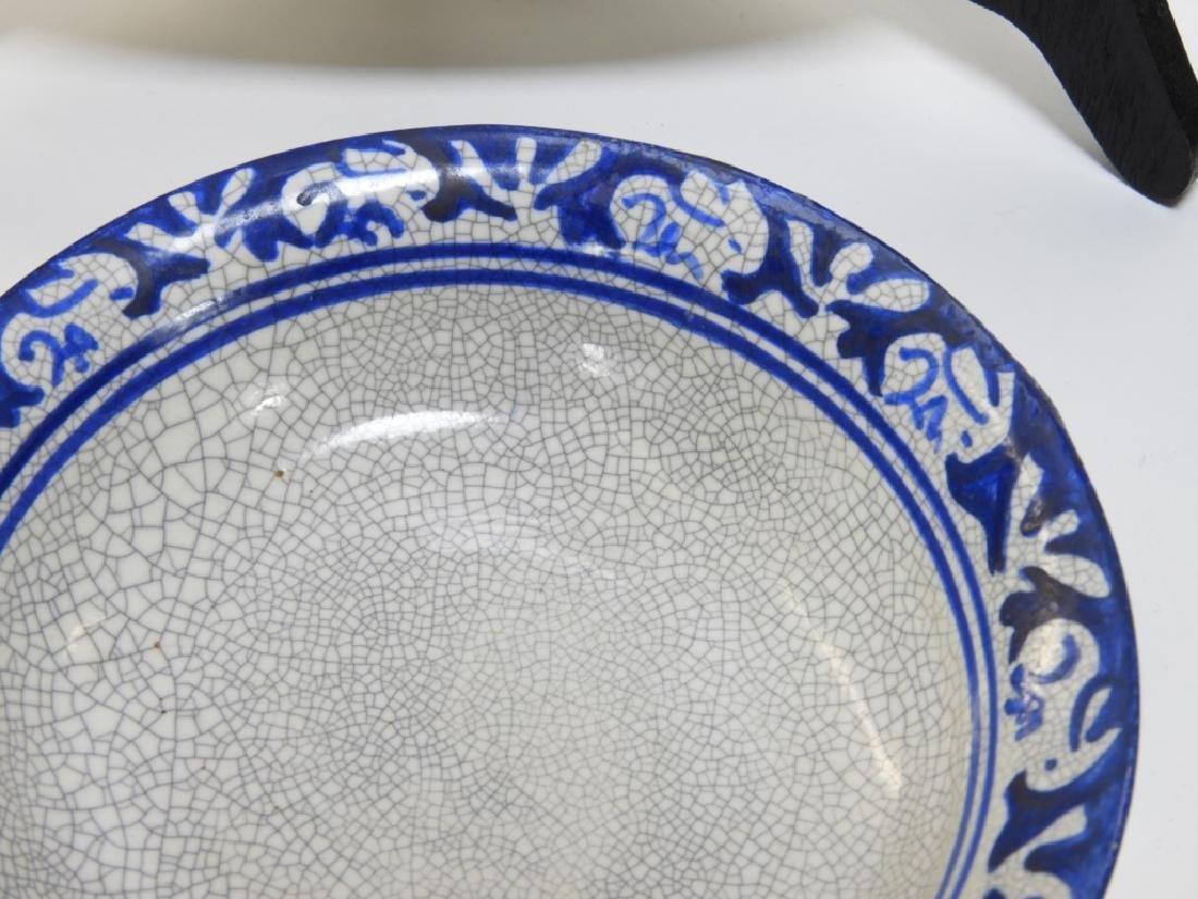 Dedham Pottery Rabbit Iris Plate Bowl Grouping - 4