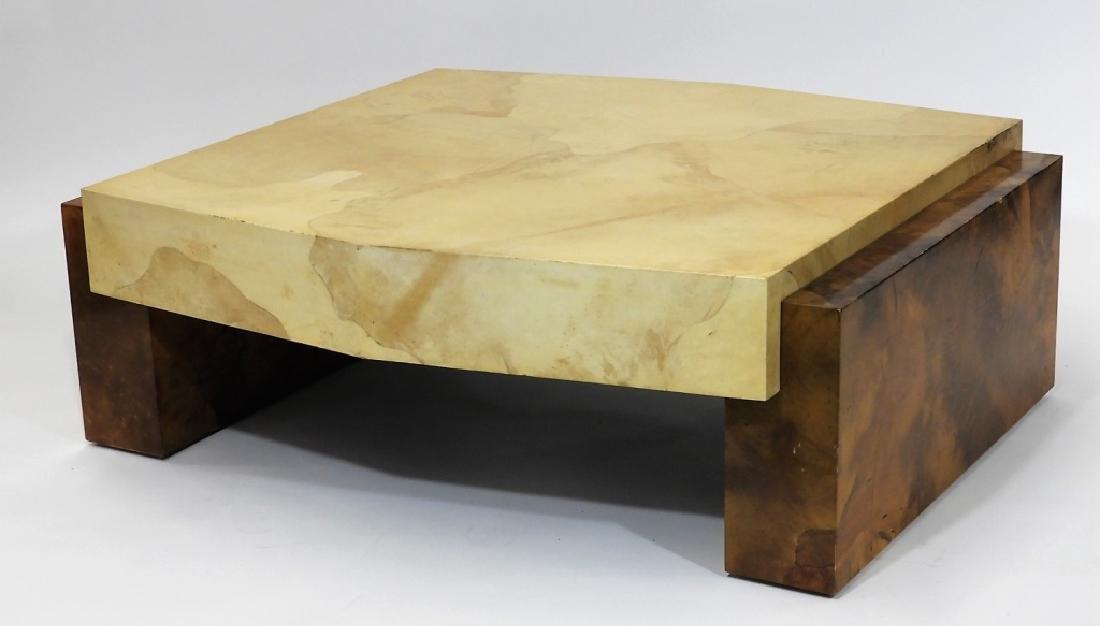MCM Designer Karl Springer Style Coffee Table