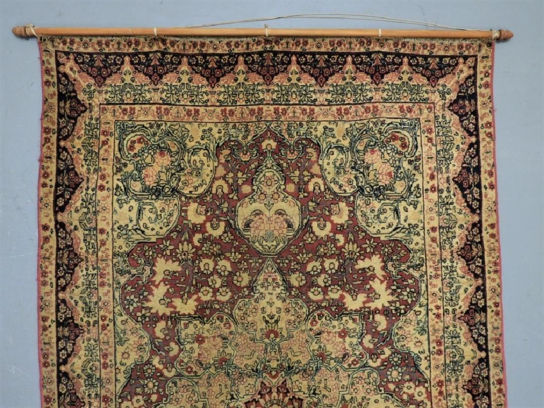 Oriental Persian Lavar Kerman Silk Wool Carpet Rug - 2