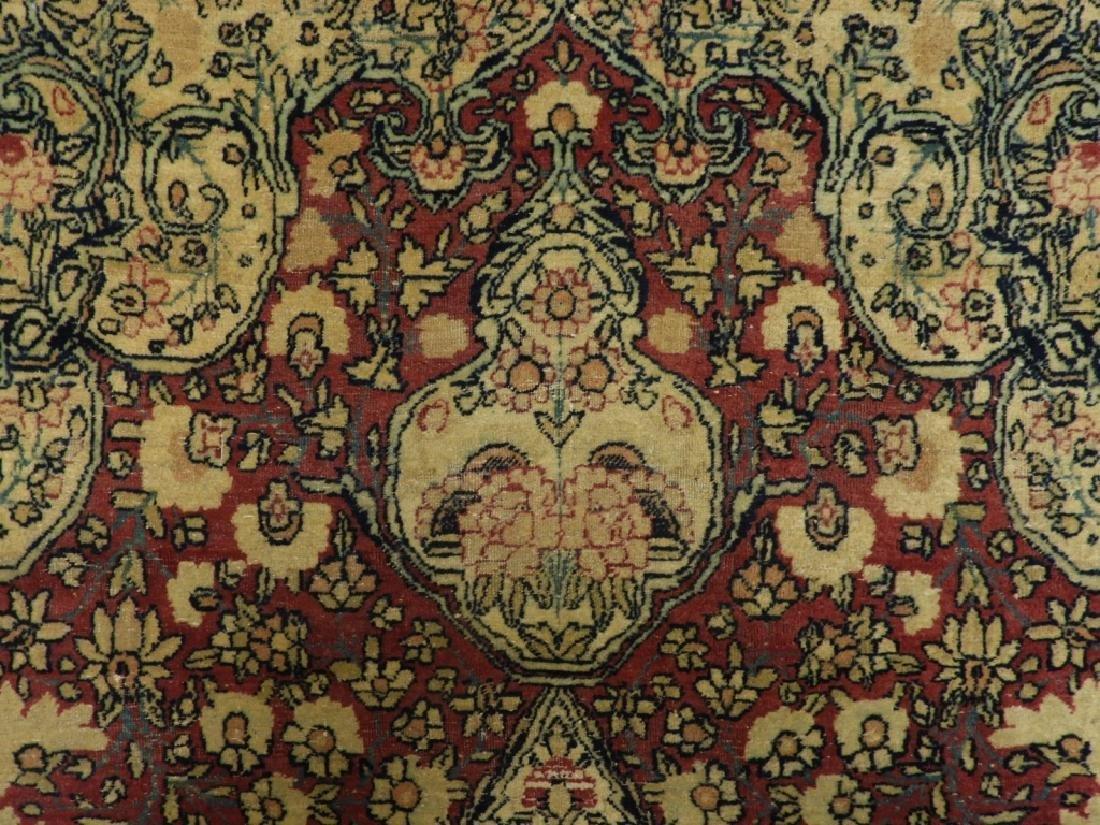 Oriental Persian Lavar Kerman Silk Wool Carpet Rug - 3