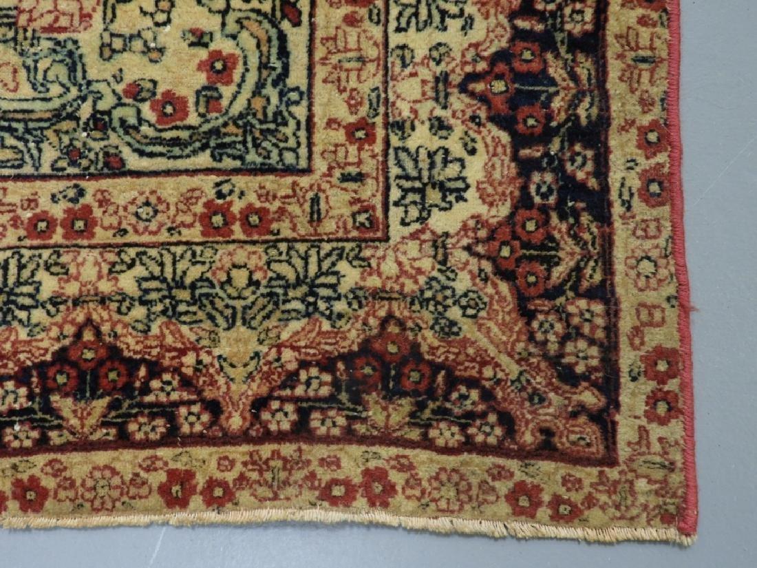 Oriental Persian Lavar Kerman Silk Wool Carpet Rug - 4