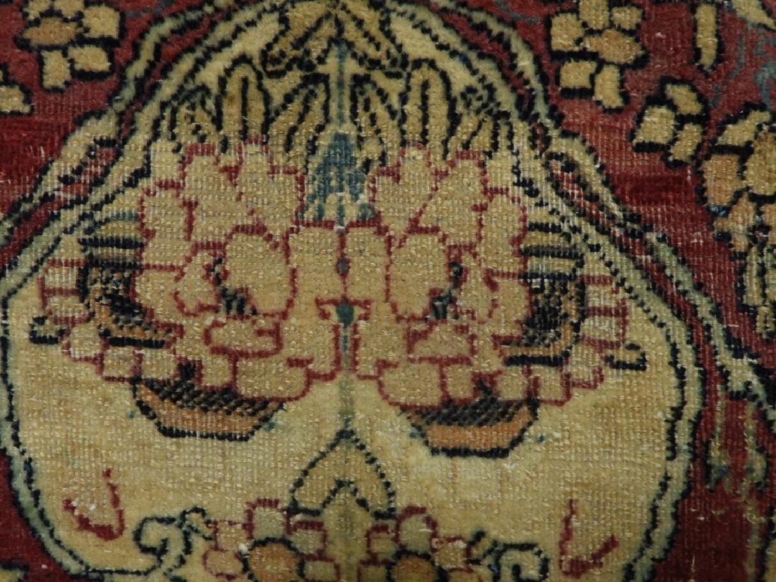 Oriental Persian Lavar Kerman Silk Wool Carpet Rug - 5