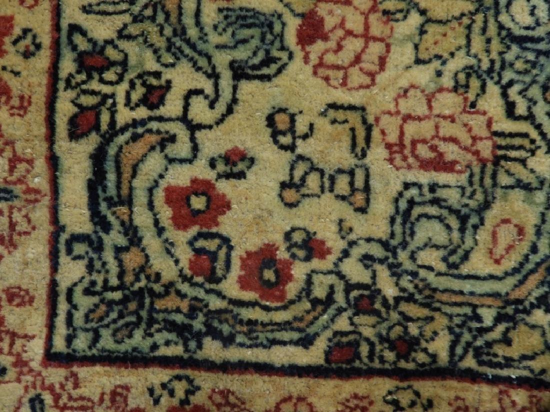 Oriental Persian Lavar Kerman Silk Wool Carpet Rug - 6