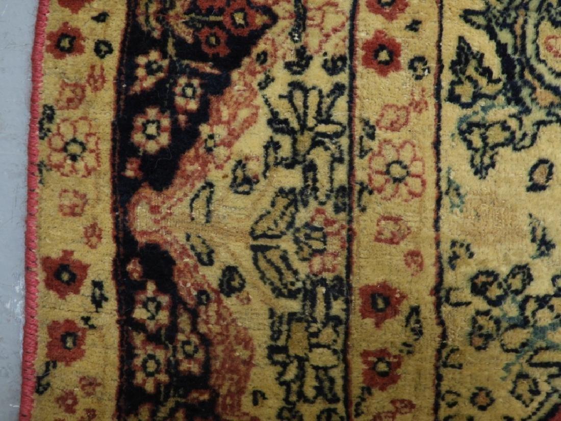 Oriental Persian Lavar Kerman Silk Wool Carpet Rug - 7