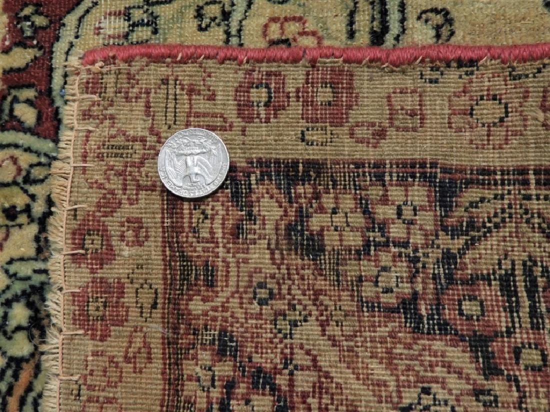 Oriental Persian Lavar Kerman Silk Wool Carpet Rug - 9