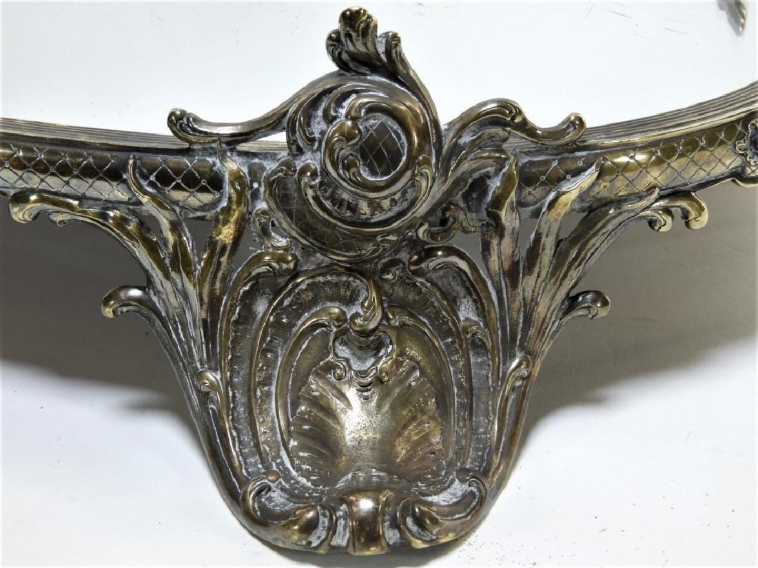 Victorian Silverplate Plateau Mirror Dresser Tray - 3
