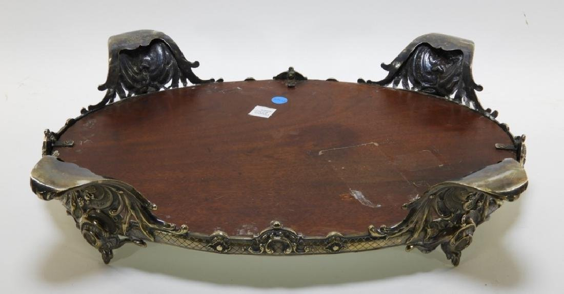 Victorian Silverplate Plateau Mirror Dresser Tray - 4