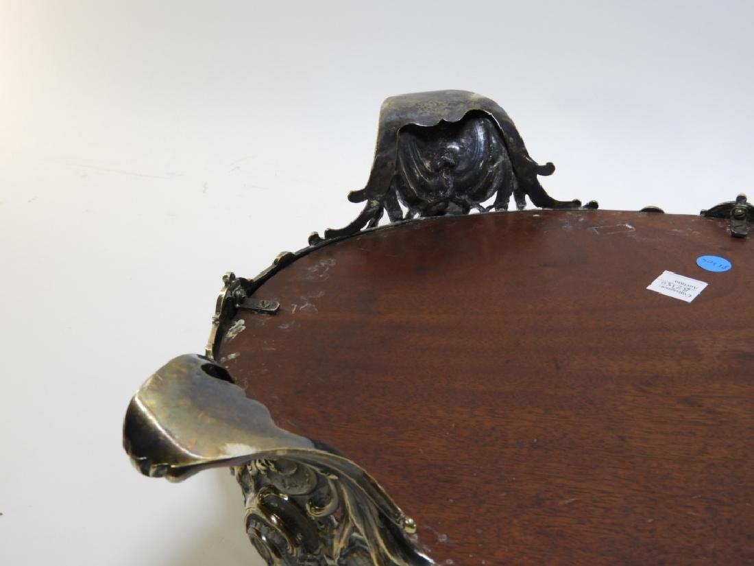 Victorian Silverplate Plateau Mirror Dresser Tray - 5