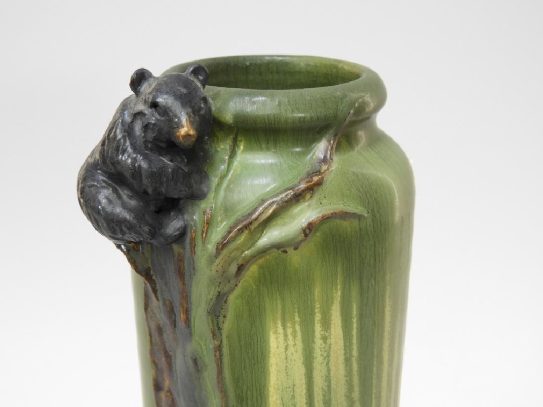 Laura Klein Ephraim Faience Pottery Bear Cub Vase - 2