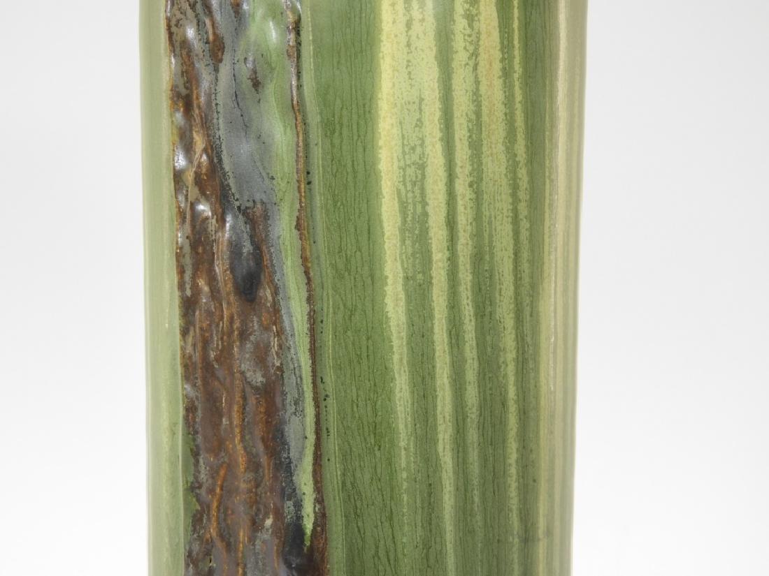Laura Klein Ephraim Faience Pottery Bear Cub Vase - 3