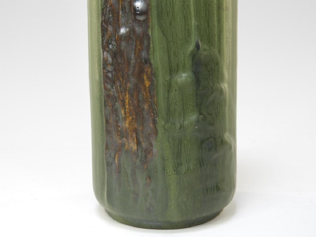 Laura Klein Ephraim Faience Pottery Bear Cub Vase - 4