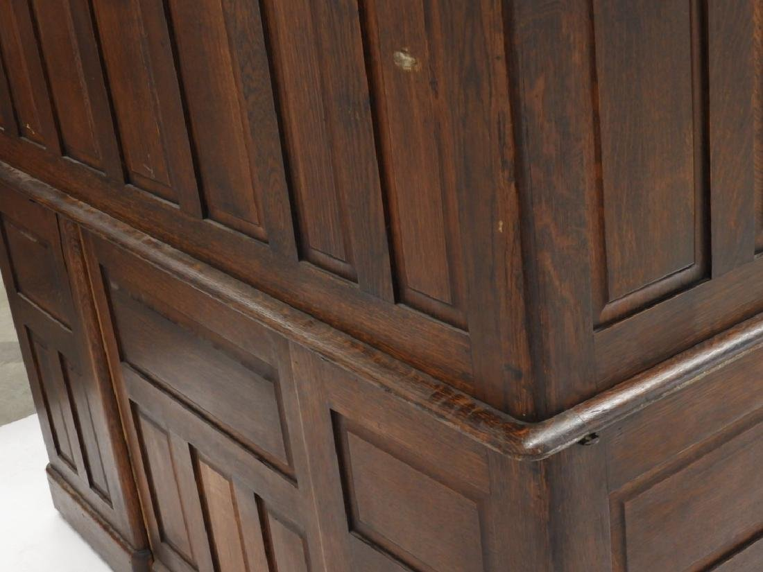 "Victorian Oak 60"" S Roll Top Raised Panel Desk - 8"