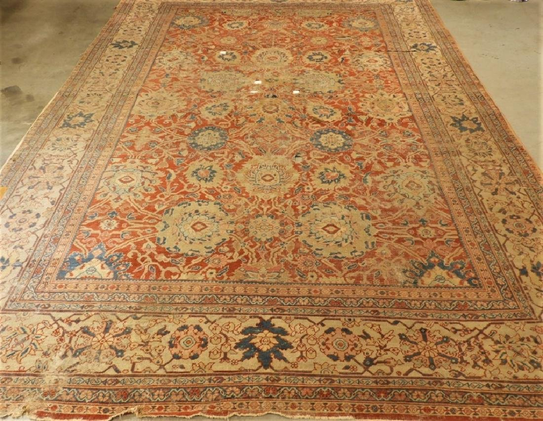 C.1880 Persian Sultanabad Room Size Carpet Rug