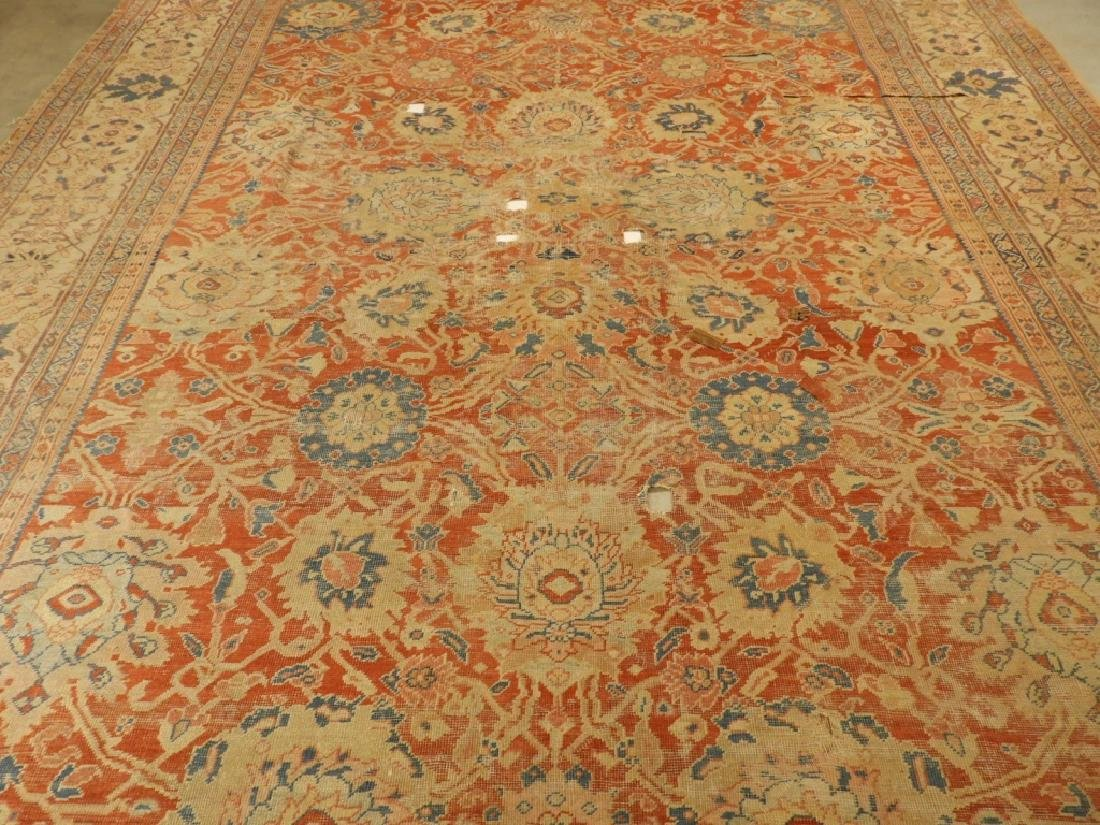 C.1880 Persian Sultanabad Room Size Carpet Rug - 2