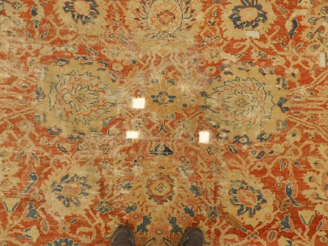 C.1880 Persian Sultanabad Room Size Carpet Rug - 3