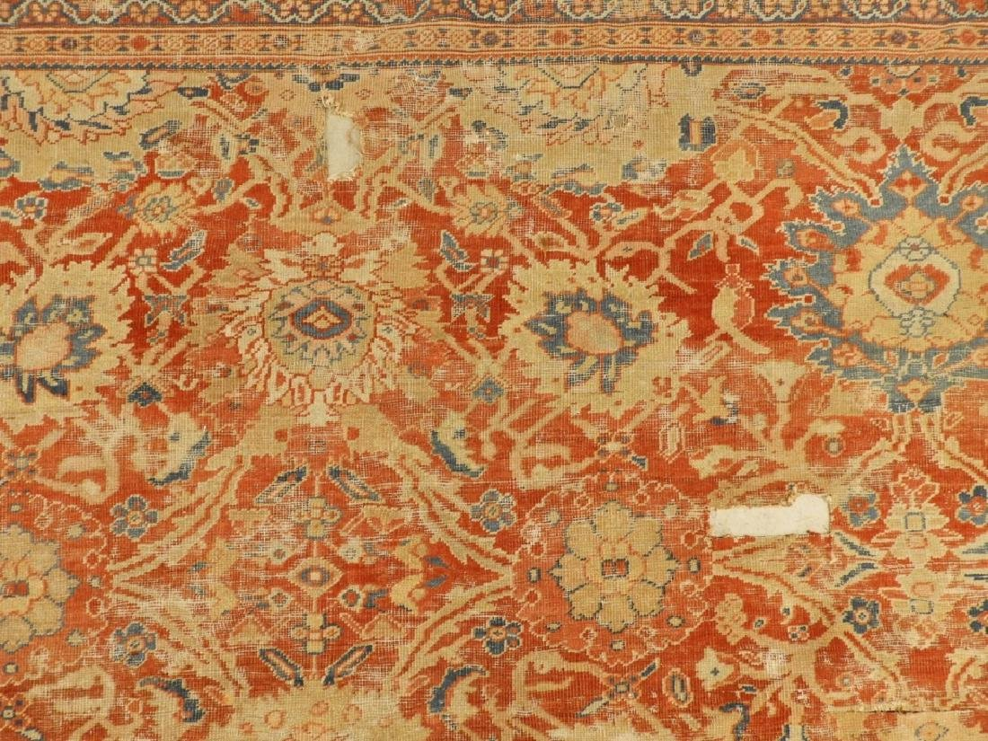 C.1880 Persian Sultanabad Room Size Carpet Rug - 4