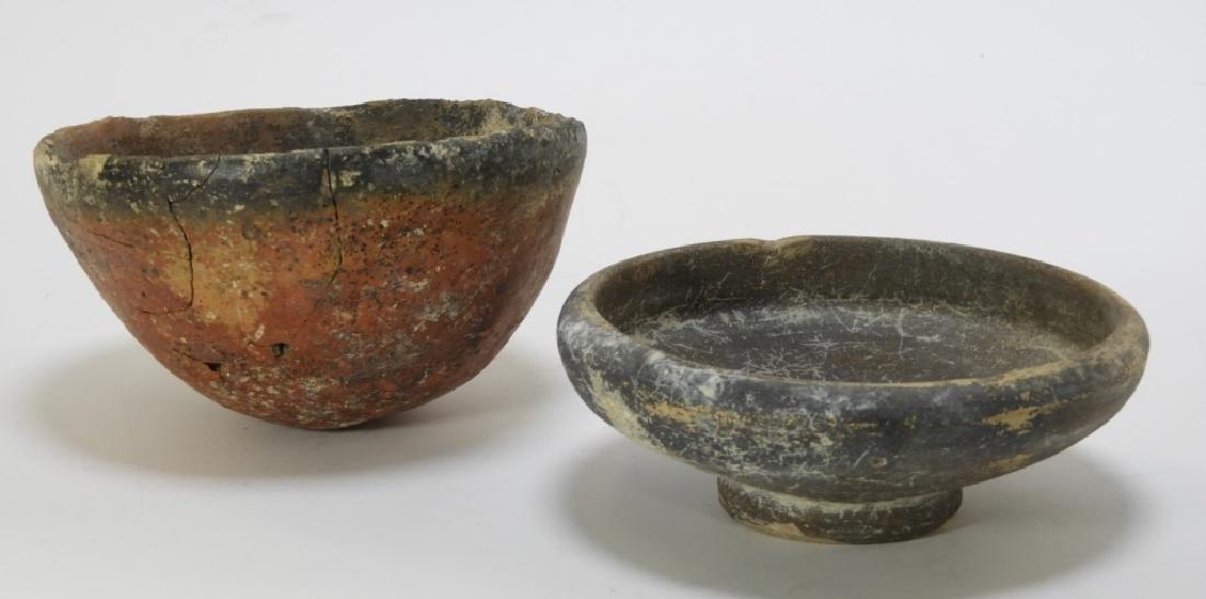 2 Egyptian Naqada Black Top & Black Ware Bowls