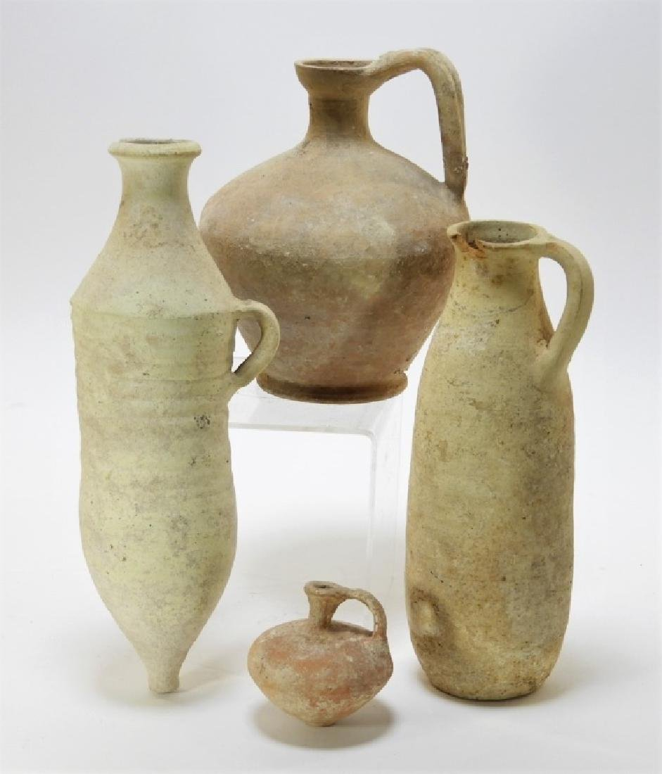 4 Ancient Cypriot Earthenware Vessels