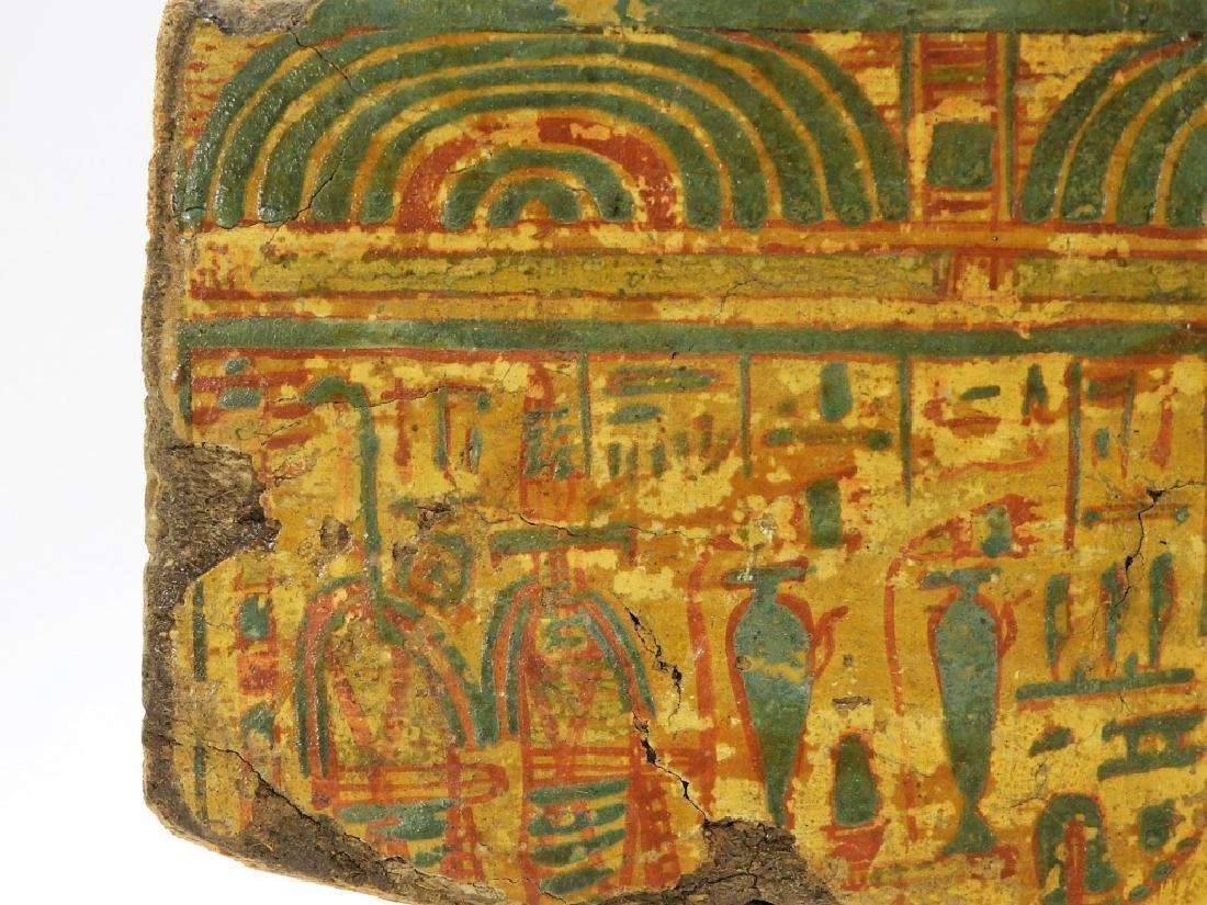 1500 BC Egyptian Canopic Jar Sarcophagus Fragment - 2