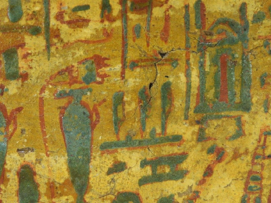 1500 BC Egyptian Canopic Jar Sarcophagus Fragment - 5