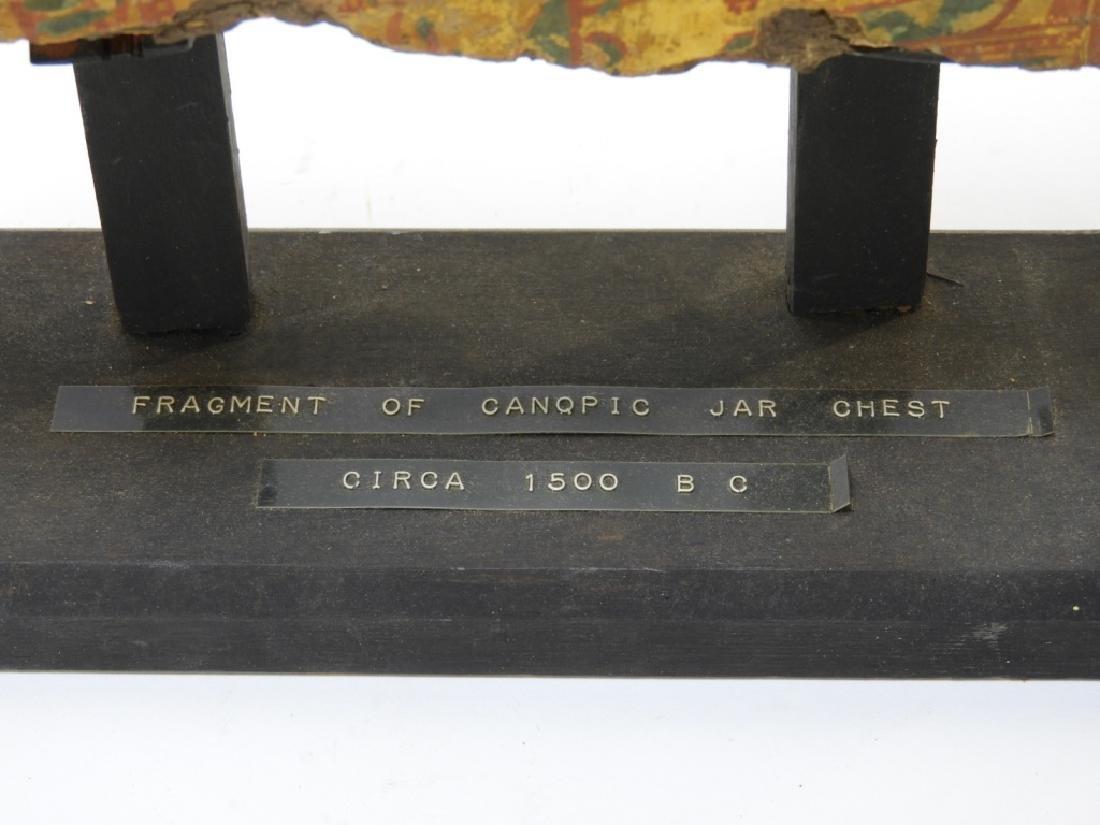 1500 BC Egyptian Canopic Jar Sarcophagus Fragment - 9