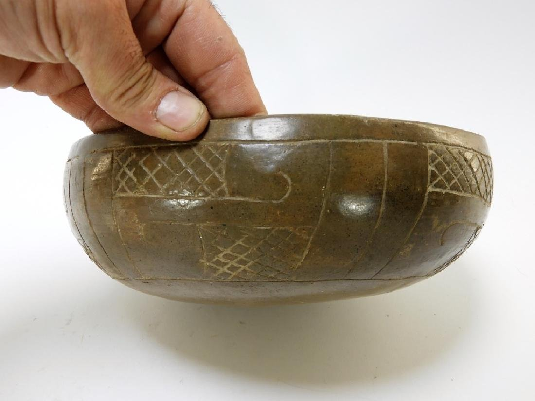 Ancient Chavin Peruvian Earthenware Pottery Bowl - 4