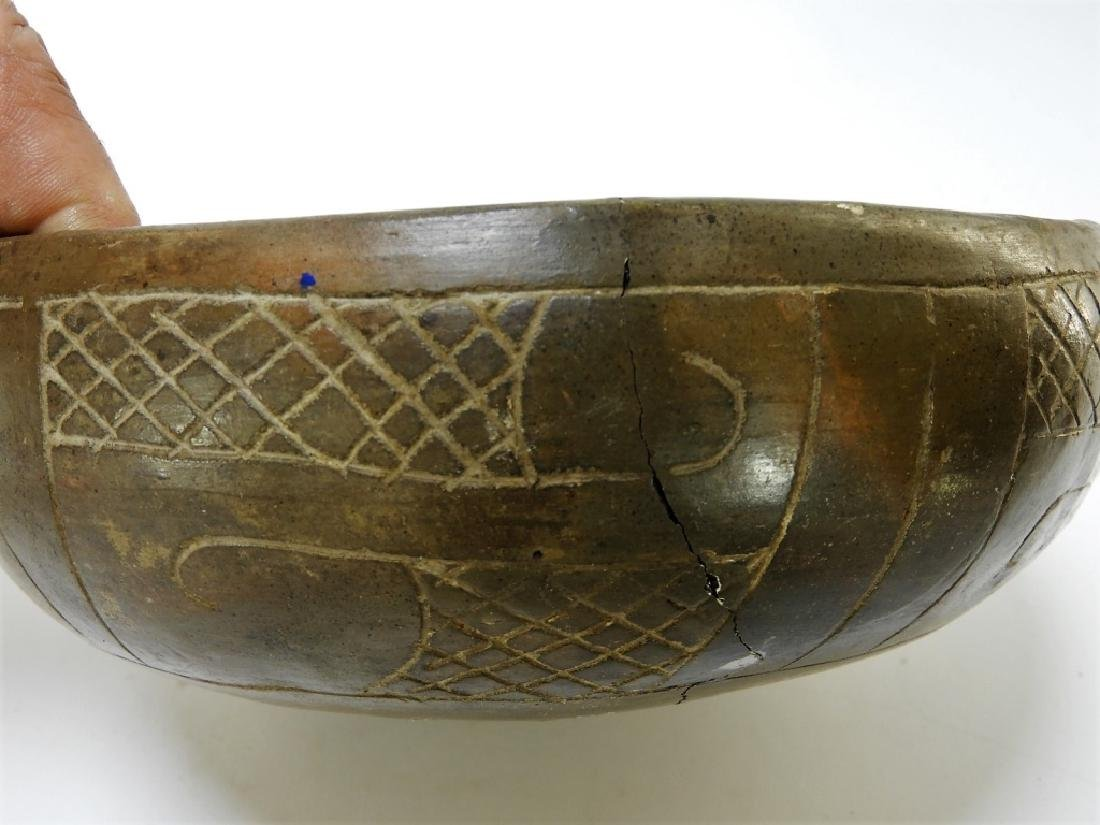 Ancient Chavin Peruvian Earthenware Pottery Bowl - 5