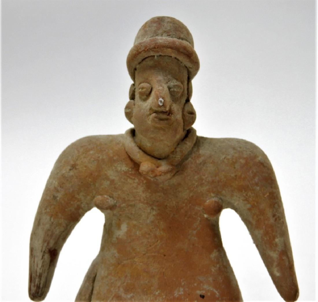 3 Ancient Pre Columbian Pottery Earthenware Figure - 2