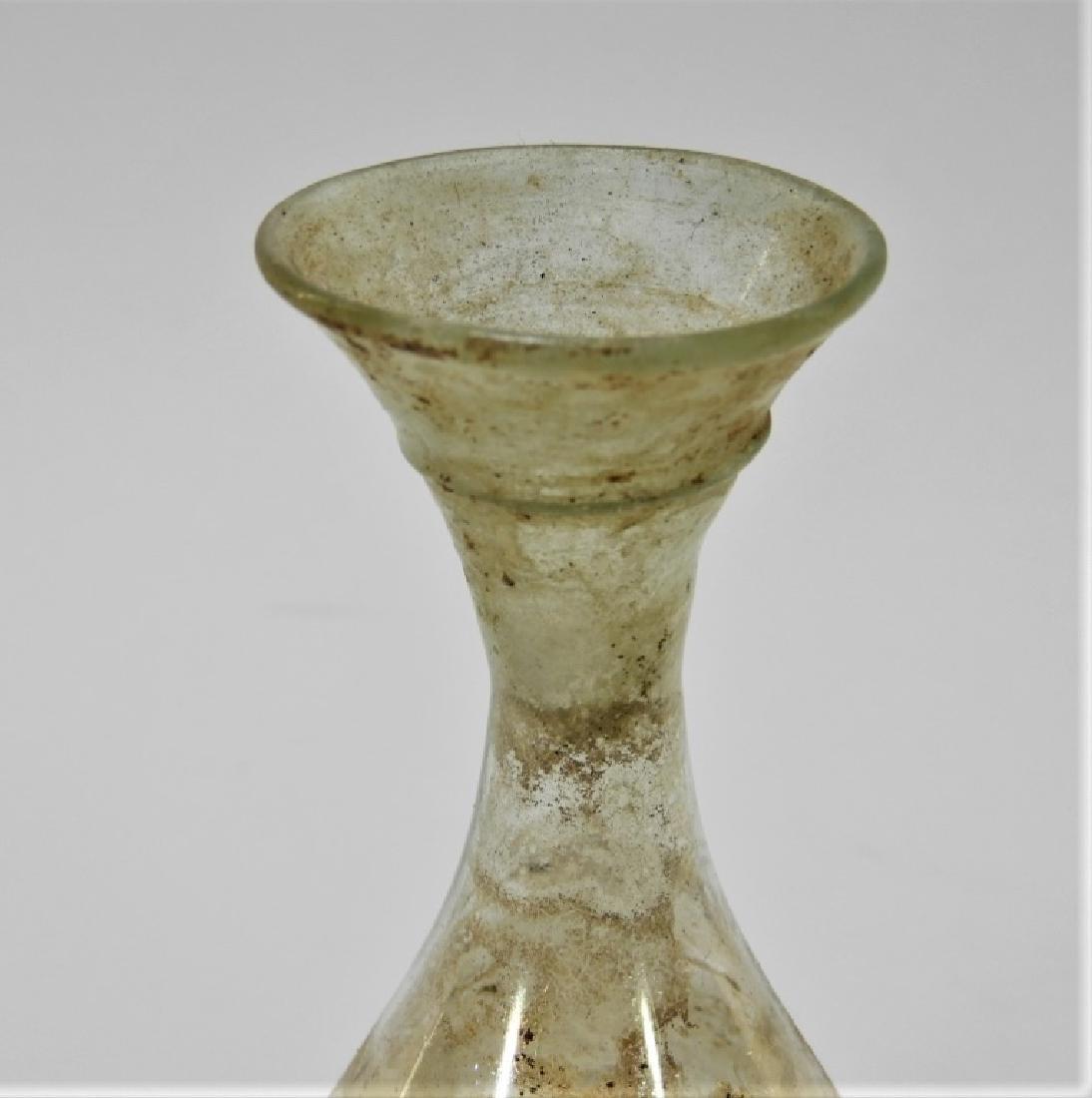 FINE Roman Iridescent Applied Thread Glass Vase - 2