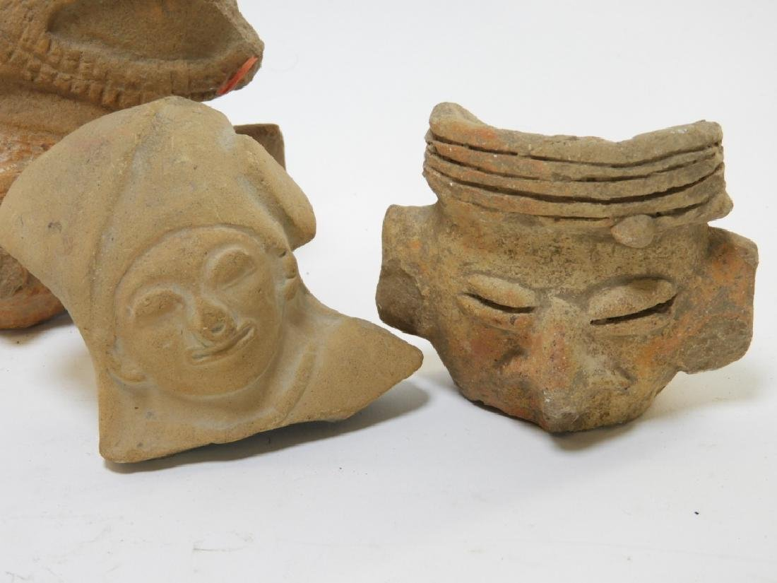 7PC Group Ancient Pre Columbian Pottery Figures - 5