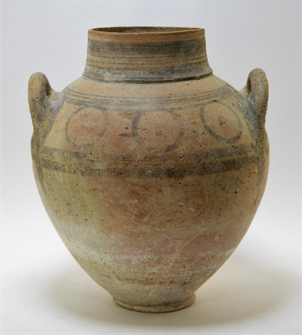 Large Ancient Cypriot Polychrome Decorated Vessel