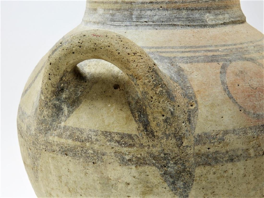 Large Ancient Cypriot Polychrome Decorated Vessel - 3