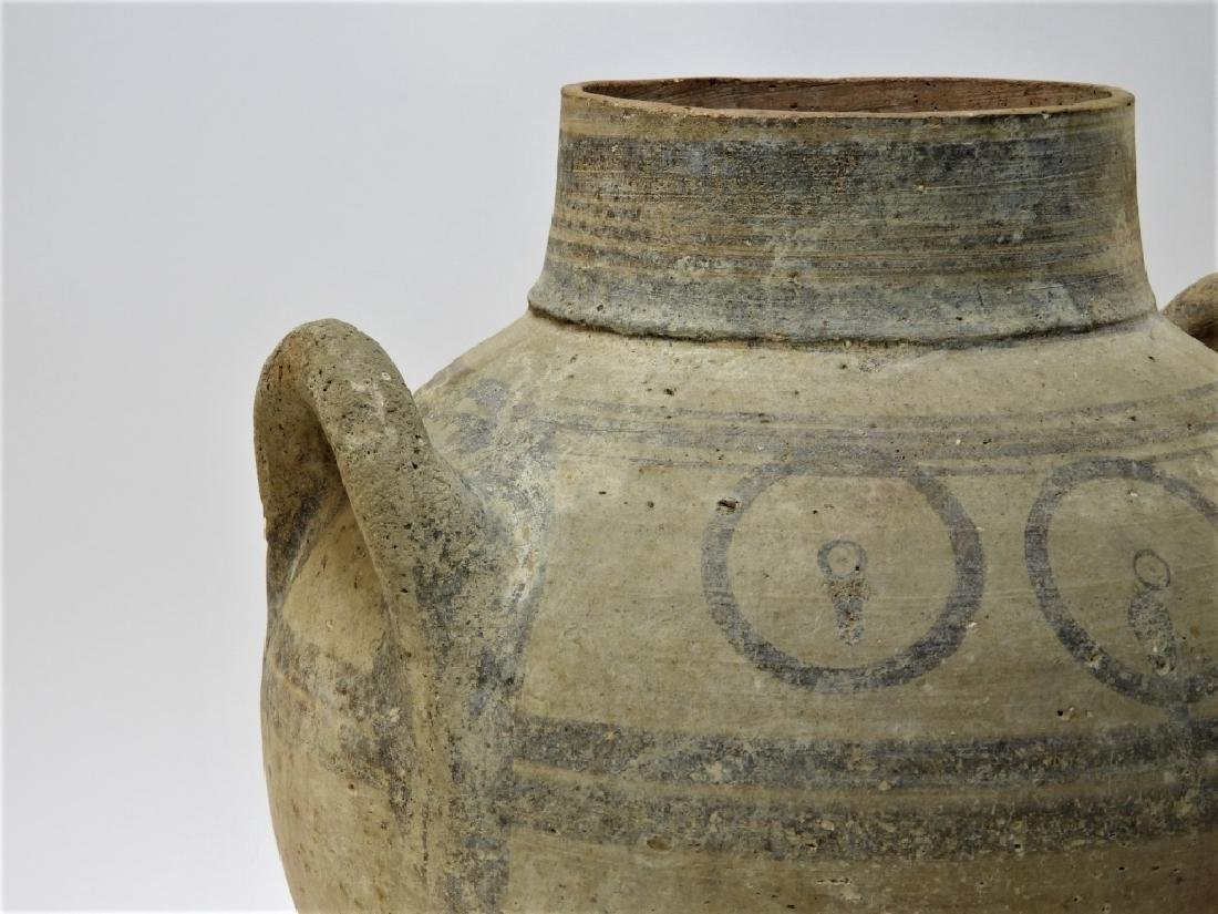 Large Ancient Cypriot Polychrome Decorated Vessel - 4