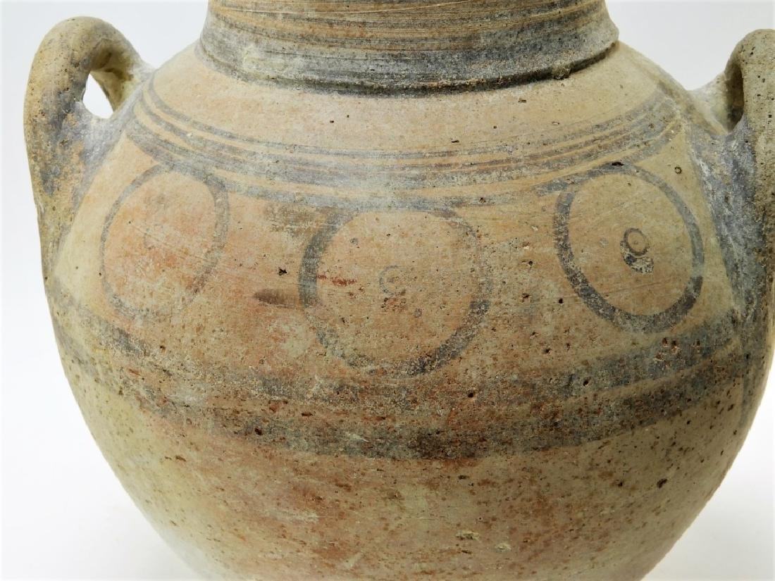 Large Ancient Cypriot Polychrome Decorated Vessel - 8