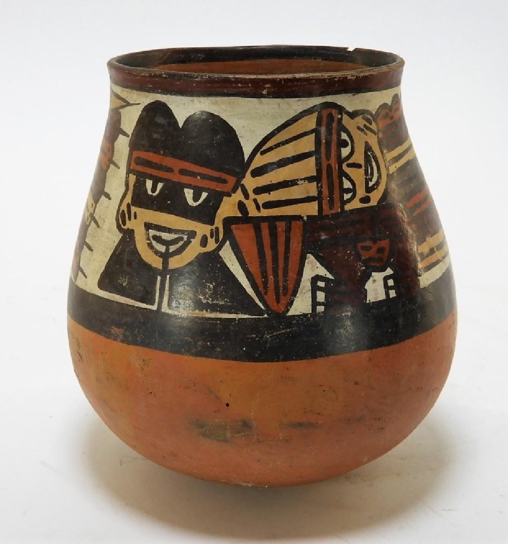 Ancient Pre-Columbian Nazca Polychrome Vessel