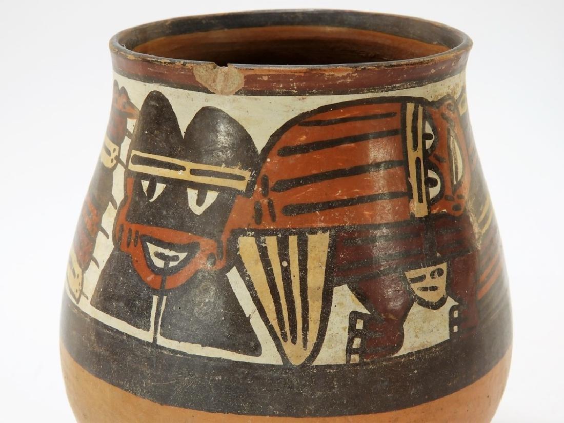 Ancient Pre-Columbian Nazca Polychrome Vessel - 3