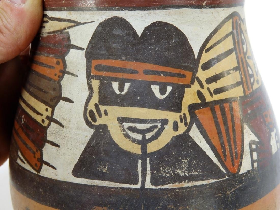 Ancient Pre-Columbian Nazca Polychrome Vessel - 4