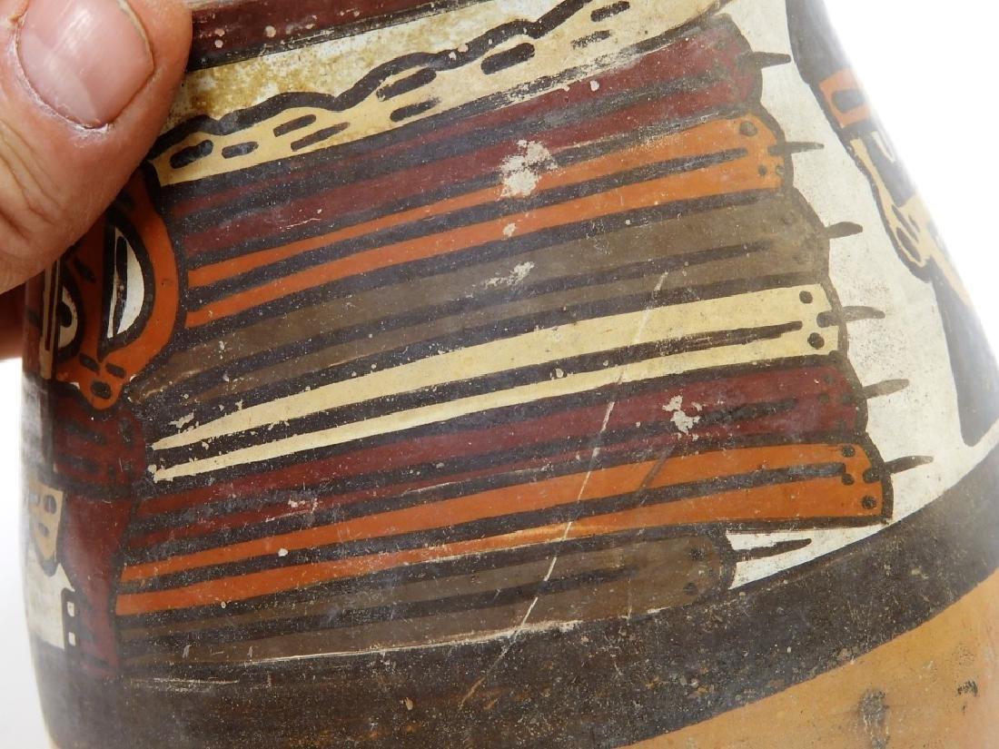 Ancient Pre-Columbian Nazca Polychrome Vessel - 5
