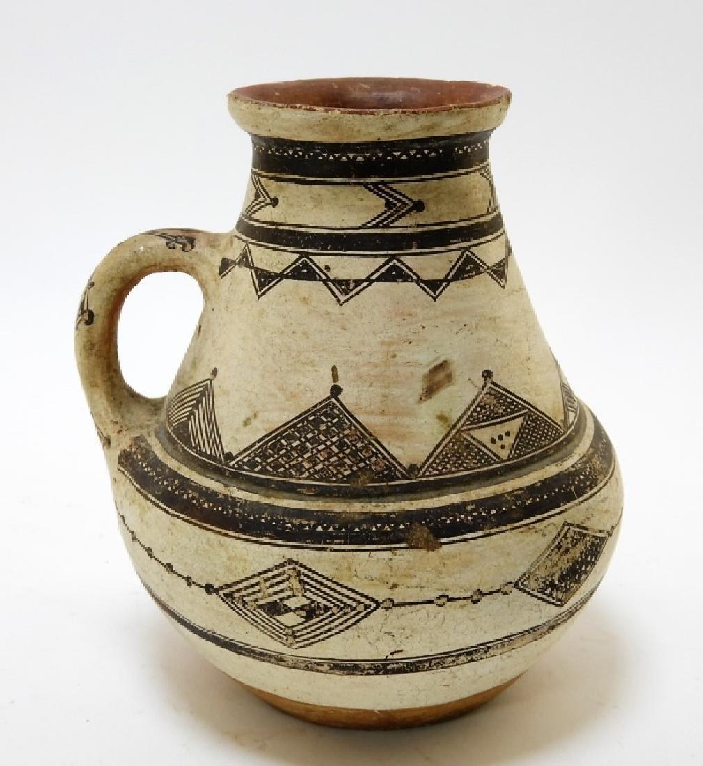 19C. Native American Decorated Zuni Pottery Vessel
